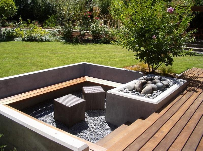 Outdoor Landscape Sitting Sunken Seating Areas That Spark Conversations