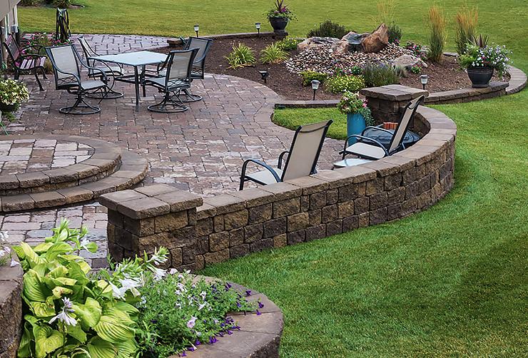 Outdoor Landscape Sitting Landscape Sitting Walls Design Installation & Maintenance