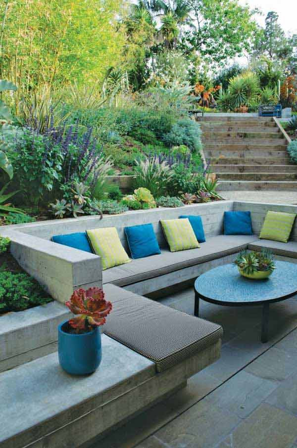 Outdoor Landscape Sitting 23 Simply Impressive Sunken Sitting Areas For a