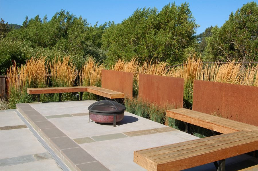 Outdoor Landscape Sitting Built In Patio Seating Landscaping Network