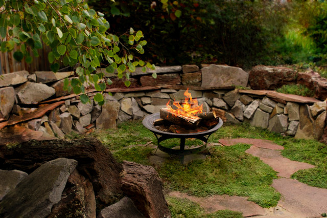 Outdoor Landscape Sitting Rustic Outdoor Sitting Area Traditional Landscape