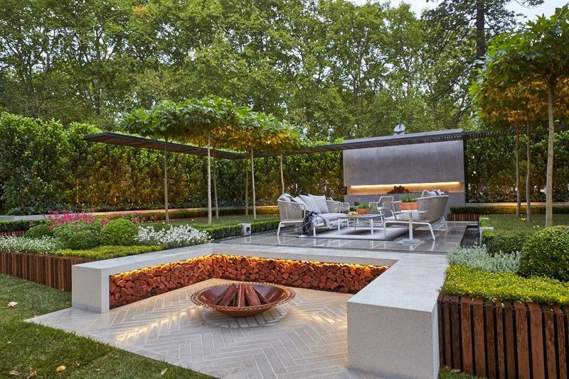 Outdoor Landscape Sitting Outdoor Fire Pit Seating Ideas That Blend Looks And