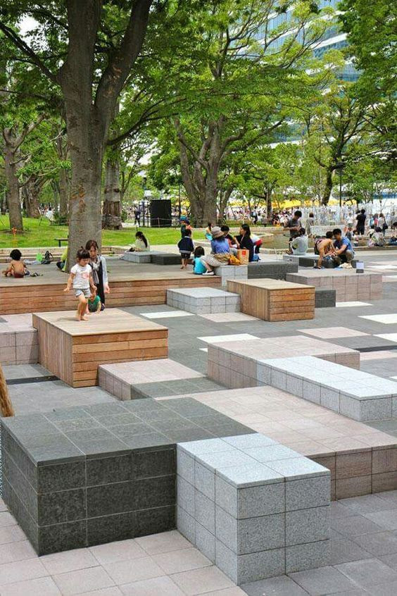 Outdoor Landscape Sitting Pretty And Pleasant Public Garden Designs To Please You