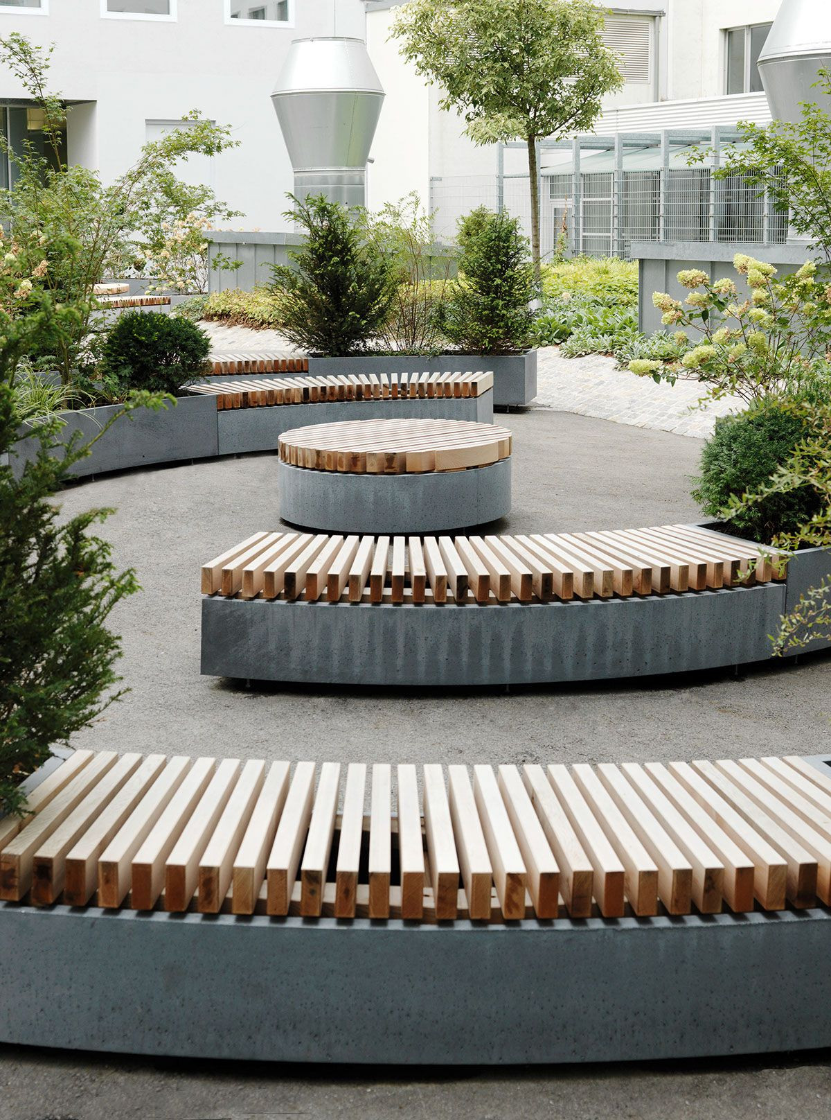 Outdoor Landscape Sitting This seating surface at round platforms outdoor furniture