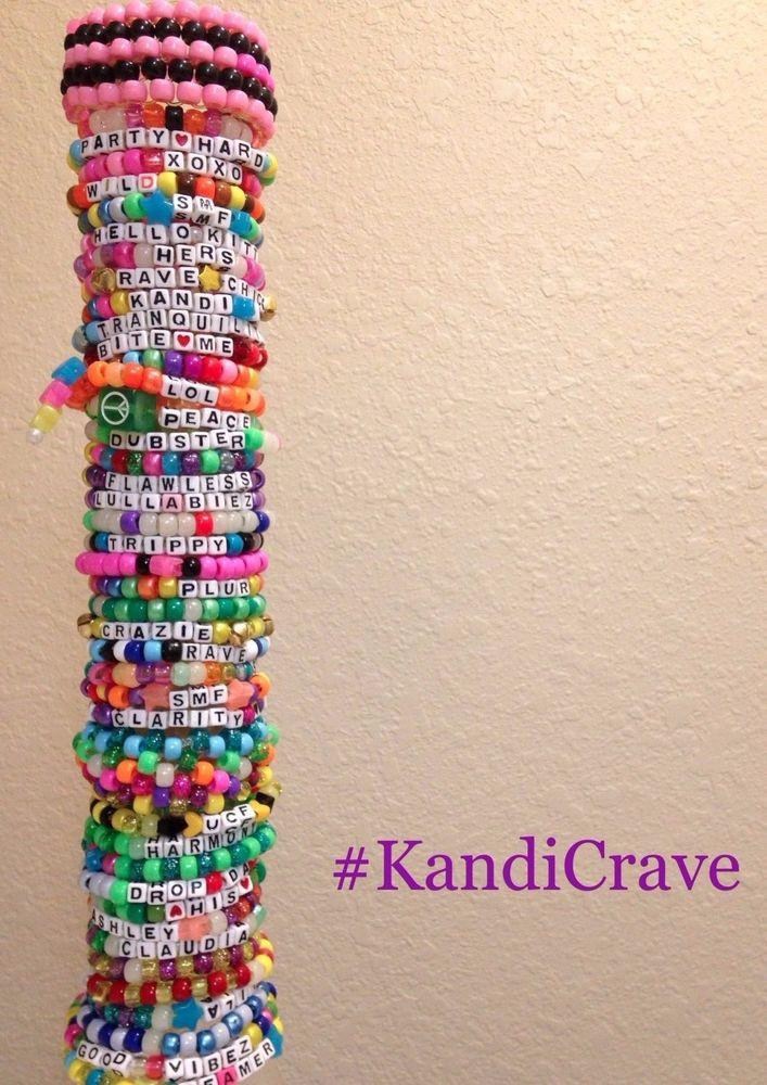 Anklet With Words 20 Single Random Kandi bracelets for EDM Rave Festivals