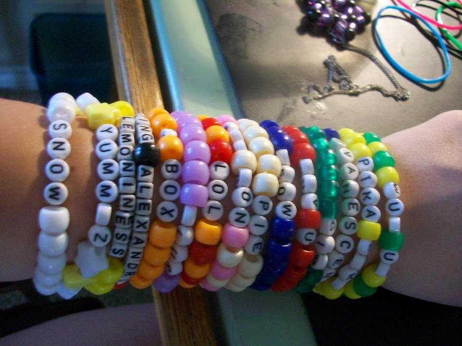 Anklet With Words Kandi Bracelets words by RawerSnowzz on DeviantArt