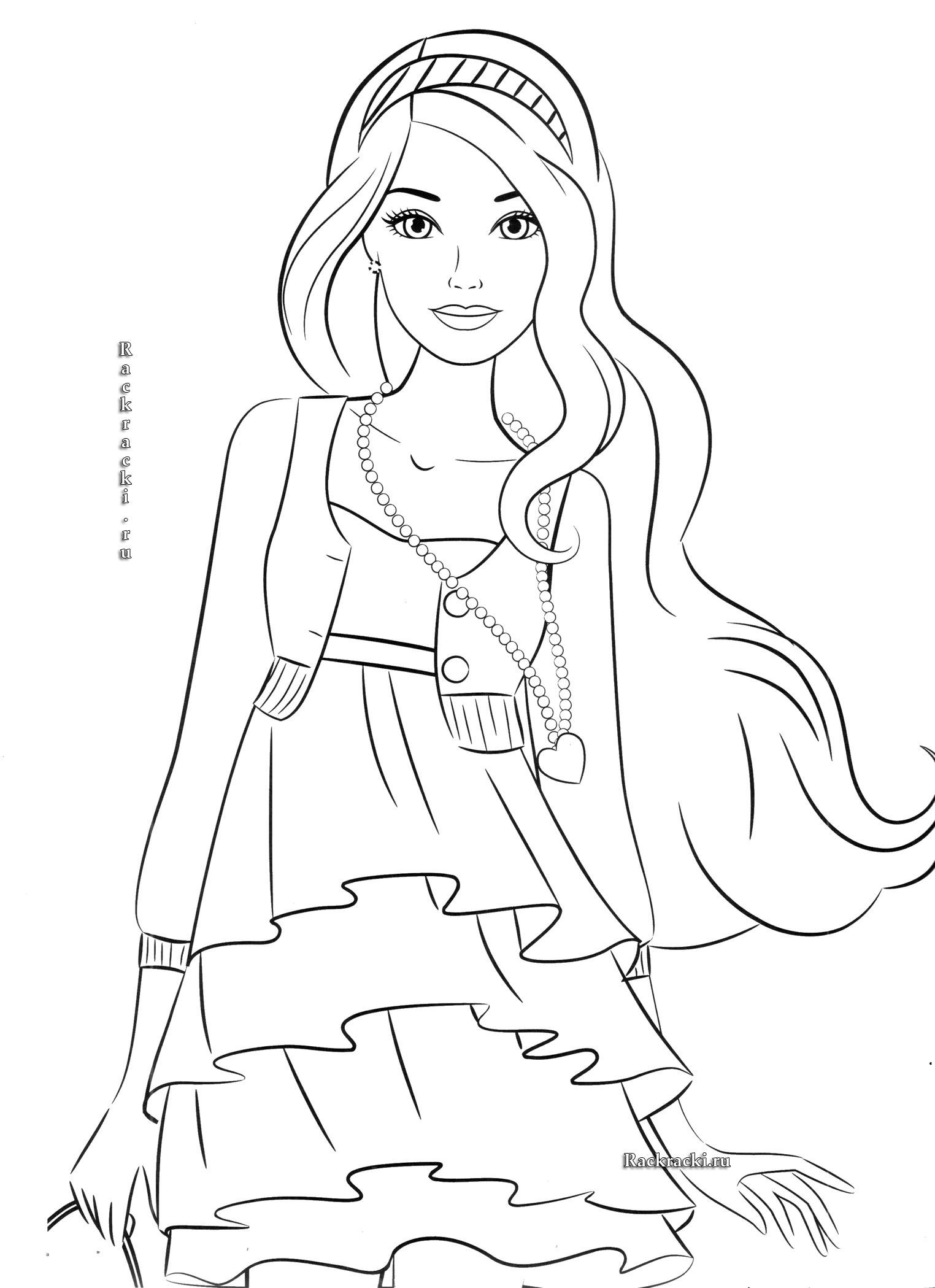 Best 25 Coloring Pages for Girls Barbie - Home, Family ...