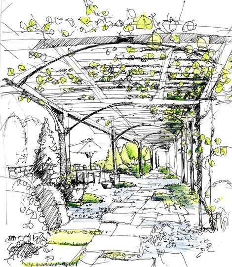 Landscape Fountain Sketch landscape architecture sketch Google keresés