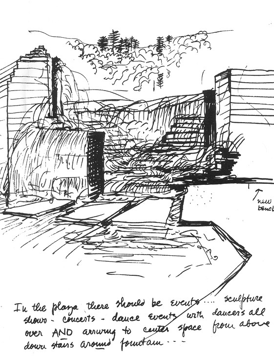 Landscape Fountain Sketch DryStoneGarden Blog Archive The Keller and Lovejoy