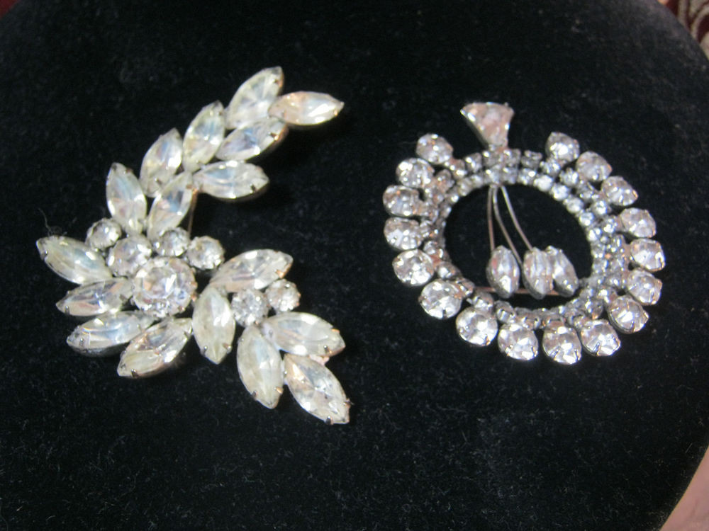 Pins Jewelry Art Deco Vintage Rhinestone Pins Brooch Costume Jewelry