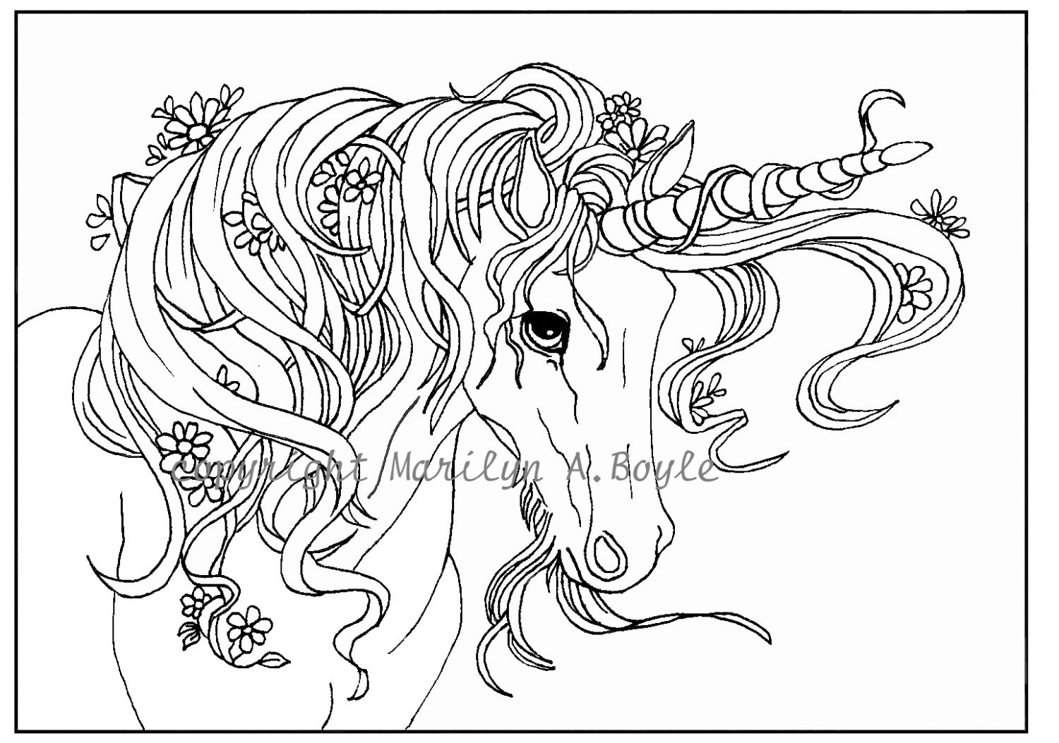 Top 25 Unicorn Coloring Pages for Girls - Home, Family ...