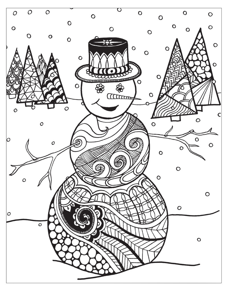 The top 23 Ideas About Winter Coloring Pages for Adults ...